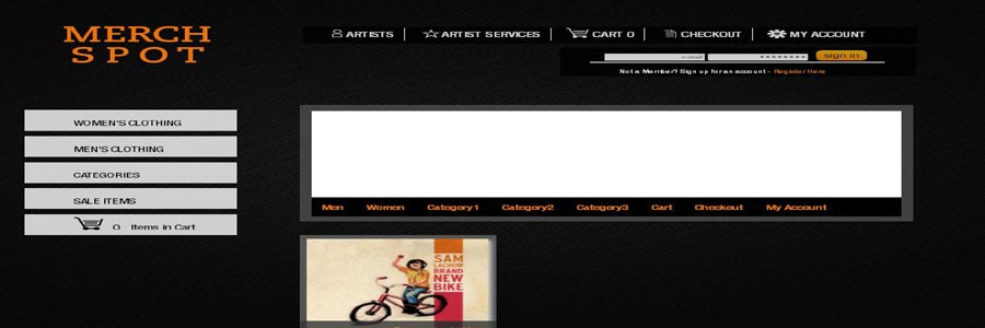 Merchspot Artist Page