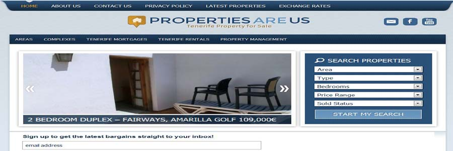 Properties are us screen 1