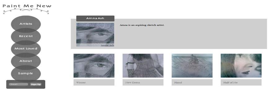 paintmenew Artist shop website